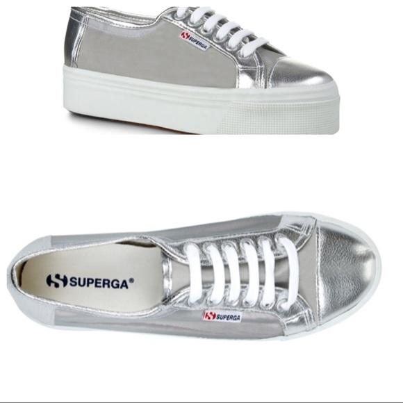 2790 Netw Silver Platform Sneakers